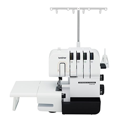 Brother Serger, ST4031HD, Strong and Tough Serger, Durable Metal Frame Construction, Large Extension Table, 1,300 Stitches Per - Serger 5 Thread