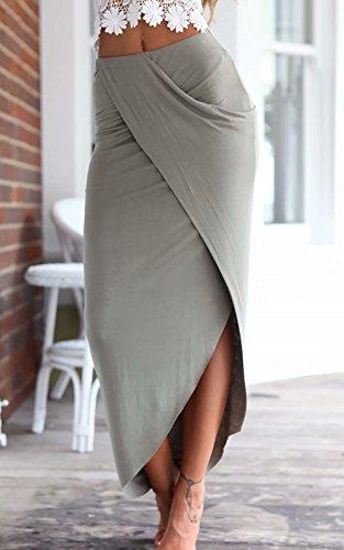 jasit Skirt Set, Women Summer Two Pieces V Neck Backless Lace Tops+Irregular Long Skirt S by jasit (Image #3)