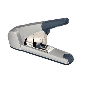 Capacit/à fino a 60 fogli Colore: Argento 55520084 Metallo Caricamento posteriore Leitz Cucitrice Heavy Duty Flat Clinch