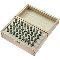 SE 95430WB 36-Piece Number & Letter Marking Punch Set, 3mm