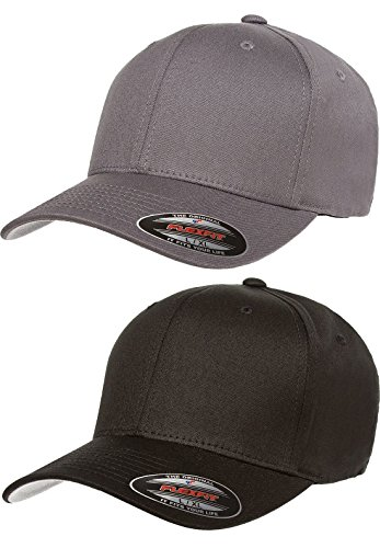 Flexfit 2-Pack Premium Original Cotton Twill Fitted Hat ... Cotton Twill Long Visor