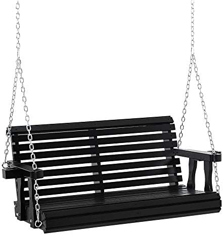 Outsunny 46″ 2-Person Outdoor Porch Swing Bench