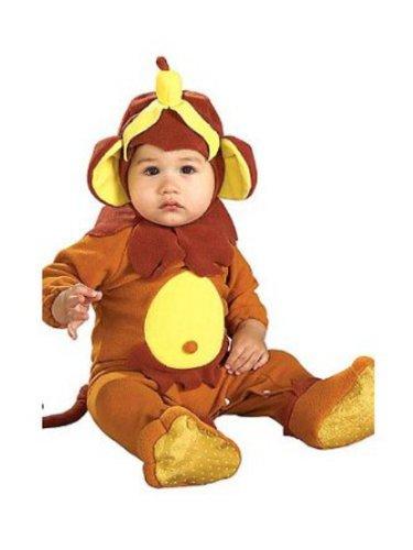 [Rubies Infant Boys & Girls Monkey Costume With Banana Hat Baby Romper] (Banana Baby Infant Costumes)