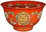 "Unique Birthday Gift Ideas - 6"" Ming Chinese Porcelain Graduation Decorative Bowl - ( Orange )"