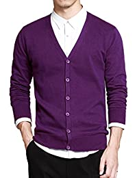 Men's Cotton Button Cardigan Sweater