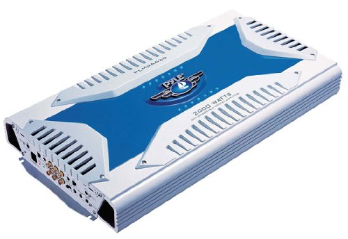6 Channel Marine Amplifier Receiver - Waterproof Wireless Bridgeable Audio Amp for Stereo Speaker with 2000 Watt Power Dual MOSFET Supply, GAIN Level, RCA Inputs and LED Indicator - Pyle PLMRA620]()