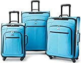 American Tourister At Pop 3 Piece Spinner Set Aqua, Bags Central