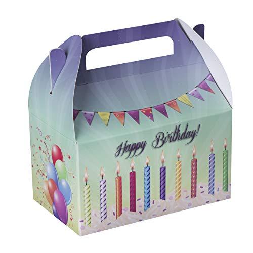 Happy Birthday Treat Bags - Hammont Happy Birthday Treat Boxes 10 Pack - 6.25