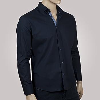 Ozoa-Camisa de cuadros para hombre, color azul marino duo-Carpeta ...
