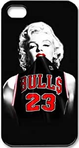 Wendy's Stores(TM) Marilyn Monroe Hard Plastic Case Skin Cover for Apple iPhone 5 5S 5G (Monroe in Bulls jersey 23) by mcsharks