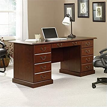 Bowery Hill Executive Desk in Cherry : Office ... - Amazon.com