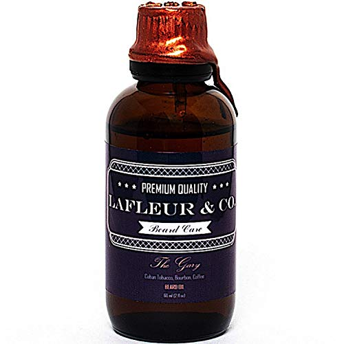 LaFleur & Co. Beard Oil The Gary (Cuban Tobacco Bourbon Coffee) - 2 fl oz subtle memorable scent, Superior beard and skin conditioning Vitamin E Aloe Vera, No Alcohol or Parabens Preservatives