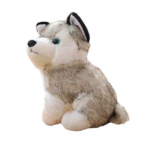 (Slendima Simulation Husky Cute Plush Dog Toy Puppy Animal Stuffed Doll Gift for Kids Boys Girls)