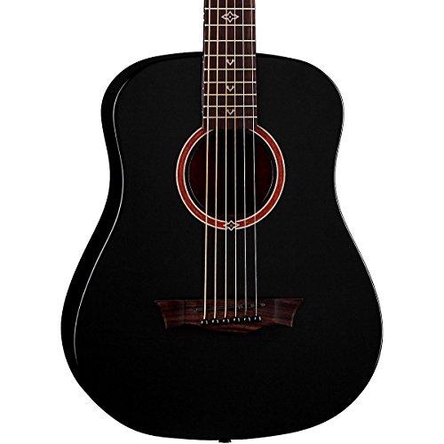 Dean FLY BKS Flight Series 3/4 Size Travel Acoustic Guitar,