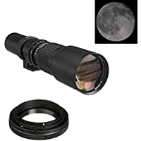500mm f/8 Telephoto Manual Focus Lens For Sony Alpha a7, a7S, a7IIK, a7II, a7R II, a6500, a6300, a6000, a5000, a5100, a3000 E-Mount Mirrorless Digital Camera