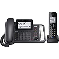 PANASONIC KX-TG9581B DECT 6.0 1.9 GHz Link2Cell(R) 2-Line Digital Cordless Phone (1 Handset) - ONE YEAR LIMITED Warranty
