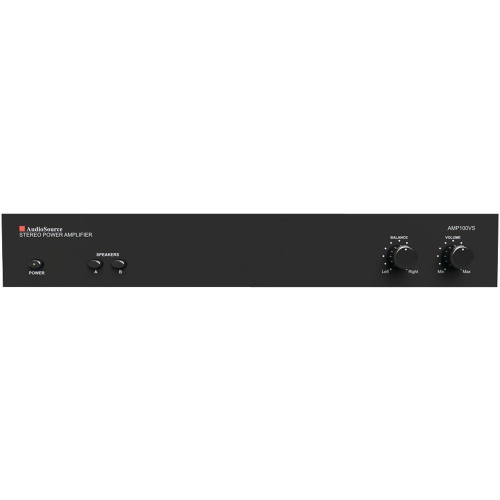 2CH PWR AMP 50W PER CH, AMP100VS 2-Channel Power Amp (50 Watts per Channel), 50W per channel at 8_, 60W per channel at 4_, 150W bridged mono, Line 1 & line 2 priority input switching with line 2 au… by Audiosource