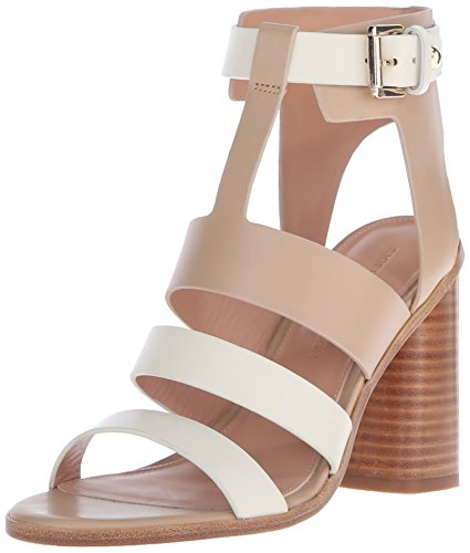 Sigerson Morrison Women's Coria Dress Sandal, Cream/Sand, 9 M US 412G3bBv0hL
