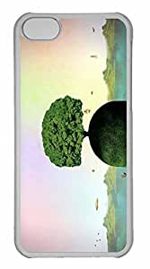 iPhone 5C Case, Personalized Custom Tree On A Head for iPhone 5C PC Clear Case