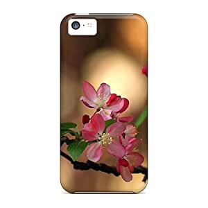 Protective Hard Cell-phone Case For Apple Iphone 5c With Provide Private Custom Trendy Blossoms Series MarcClements