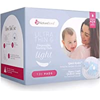 NatureBond Disposable Nursing Pads Ultra Thin 120 Pcs. Breastfeeding Pads, Light, Contoured and Highly Absorbent Breast…