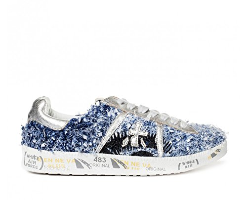 PREMIATA ANDYD3091 Glitter Blue Women's Sneakers 7Rqr7p
