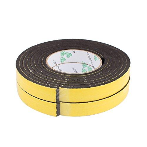 uxcell 2Pcs 20mm x 5mm Single Sided Self Adhesive Shockproof Sponge Foam Tape 3 Meters