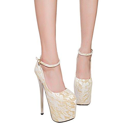 Donna bianche E Scarpe Tacco Alto Sposa No 19cm Alto Fereshte Con Da 547 qBxFwF71E