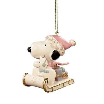 Lenox Snoopy Christmas Ornaments