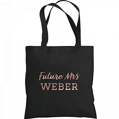 Metallic Rose Gold Future Mrs. Weber: Liberty Bags Canvas Tote Bag