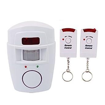eDealMax inalámbrica inteligente 2 en 1 Sistema de Alarma Detector de movimiento PIR de alerta de seguridad