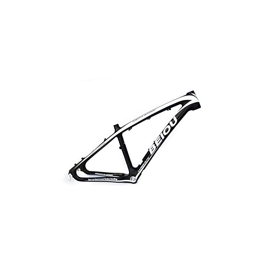 BEIOU 3K Carbon Fiber Mountain Bike Frame 26 Inch Glossy Unibody External Cable Routing T700 Ultralight MTB B005X