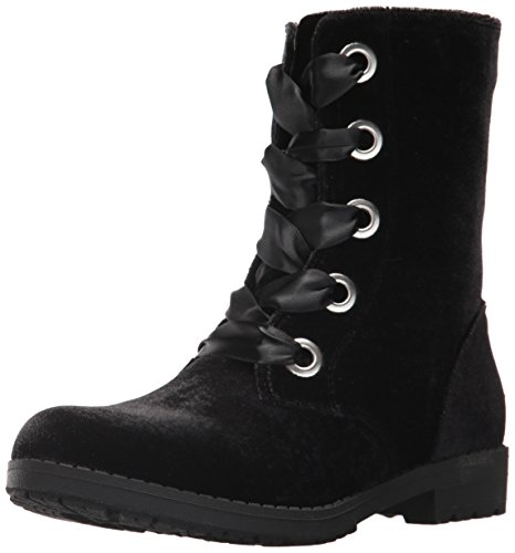 Nine West Girls' Melinah Fashion Boot, Black Velvet, 3 Medium US Little - Nine Boots Kids West