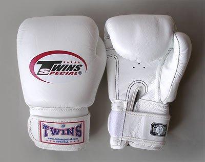 TWINS 白 8オンス ボクシンググローブ ツインズ マジックテープ式