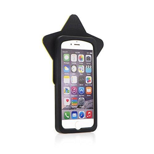 BACK CASE 3D STERNE für Apple Iphone 6 / 6S / 6G Hülle Cover Case Schutzhülle Tasche TEDDYBÄR