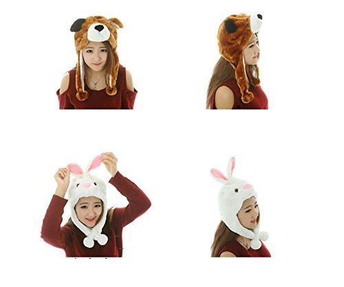 Dalino Creative Cute Cartoon Performance Headwear Plush Animal Headgear (White Rabbit) by Dalino (Image #3)