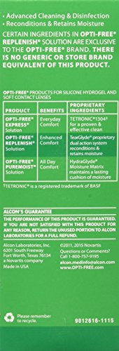 Opti-Free replenish solution for contact lenses 4 Fl oz