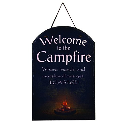 - Ohio Wholesale Camp Fire Welcome Slate Wall Hanging