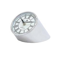 Plutus Brands Table Clock with Stylish Urban Design