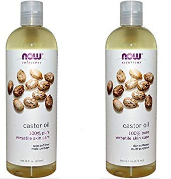 NOW Foods Solutions 2 Pack Castor Oil Pure Organic Cold Pres