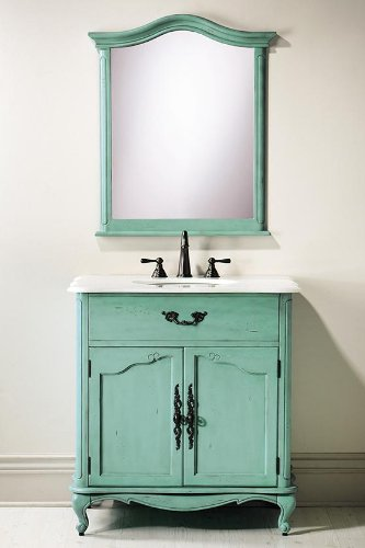 Bon Amazon.com: Provence Single Sink Bath Vanity, 35Hx33Wx22D, BLUE: Kitchen U0026  Dining