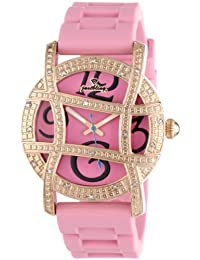 "JBW Women's JB-6241-H ""Olympia"" Sport Rose Gold Pink Designer Silicone Diamond Watch"