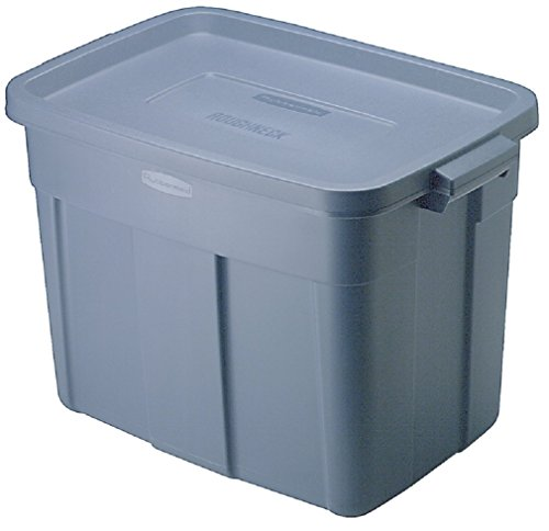 Rubbermaid Rmrt180006 Roughneck Medium Size Nestable Storage Tote Box, 18 Gallon (Pack of 6) (Roughneck Tote Storage)