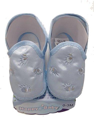 Azul Seda Pano De 3 De Céu 0 Bebê M Sapatos Bebê AWvq0wna