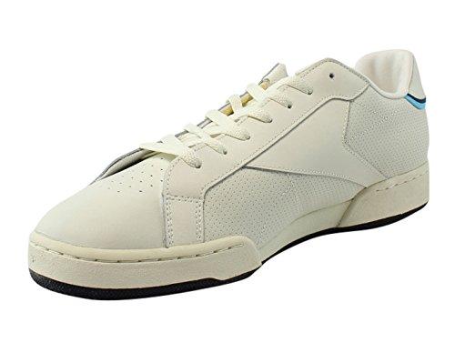 Reebok Npc Uk Ii Thof Craie / Blanc / Bleu / Marine / Brs Marche Mens Chaussures De Sport Taille 8.5 Nouveau