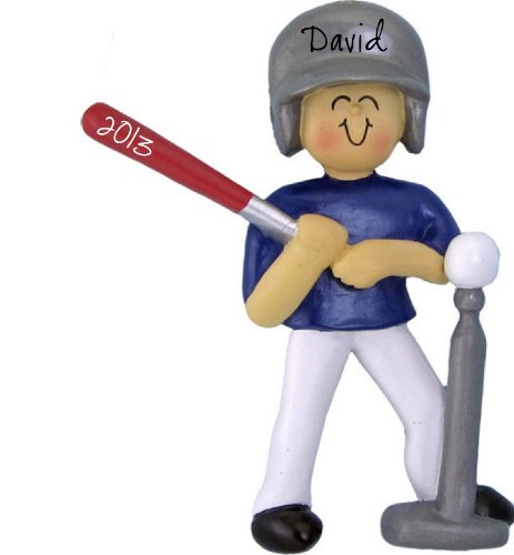 Tee Ball Boy Personalized Christmas Ornament
