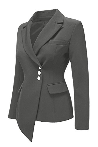 Yacun Oficina Silm Traje Grey Outwear Chaqueta De Manga Larga Abrigo Mujer La 6gwq6U