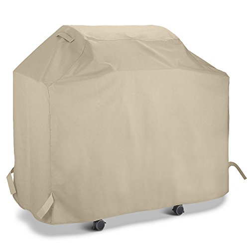 UNICOOK Gas Grill Cover 60 Inch, Outdoor Charcoal Barbecue Grill Cover, Heavy Duty Water Resistant, All Weather Protection, Fit Grills of Weber, Char-Broil, Nexgrill, Brinkmann and More, Desert Sand