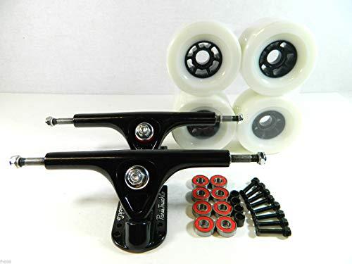 Good Skateboard Paris 180Mm Longboard Trucks + Pro 90Mm Flywheels + ABEC 7 Bearings Combo Set