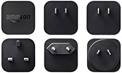 Charge your Kindle or Kindle Fire while on the go with this convenient travel kit. Five interchangeable heads easily twist on and off, allowing you to choose your cable direction and optimize your outlet space. The 9W, 1.8A adapter provides f...